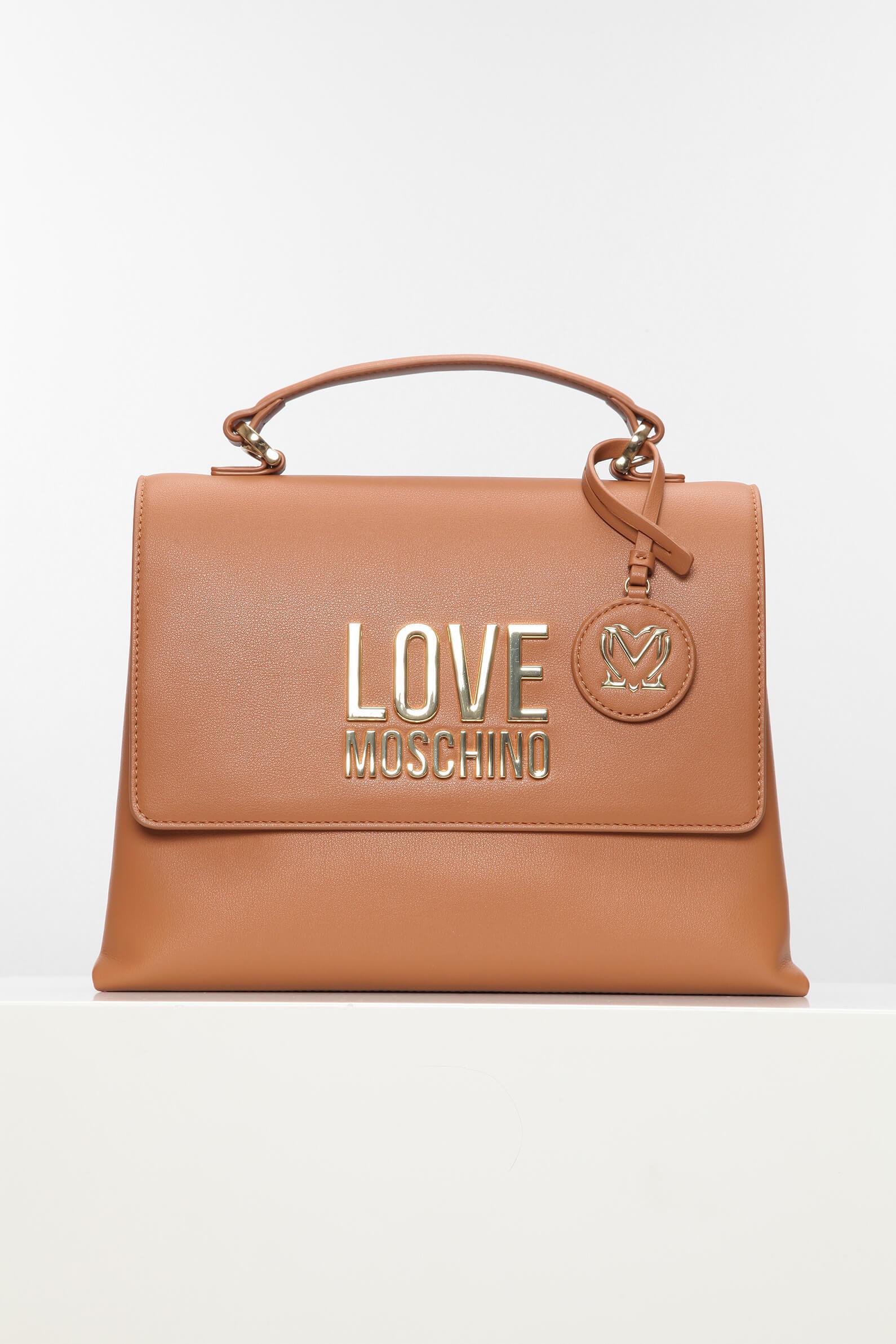 коричневая сумка love moschino