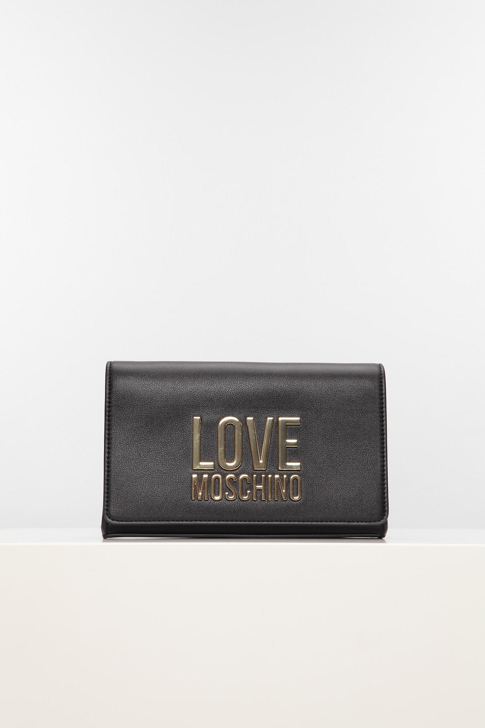 Черная сумка love moschino