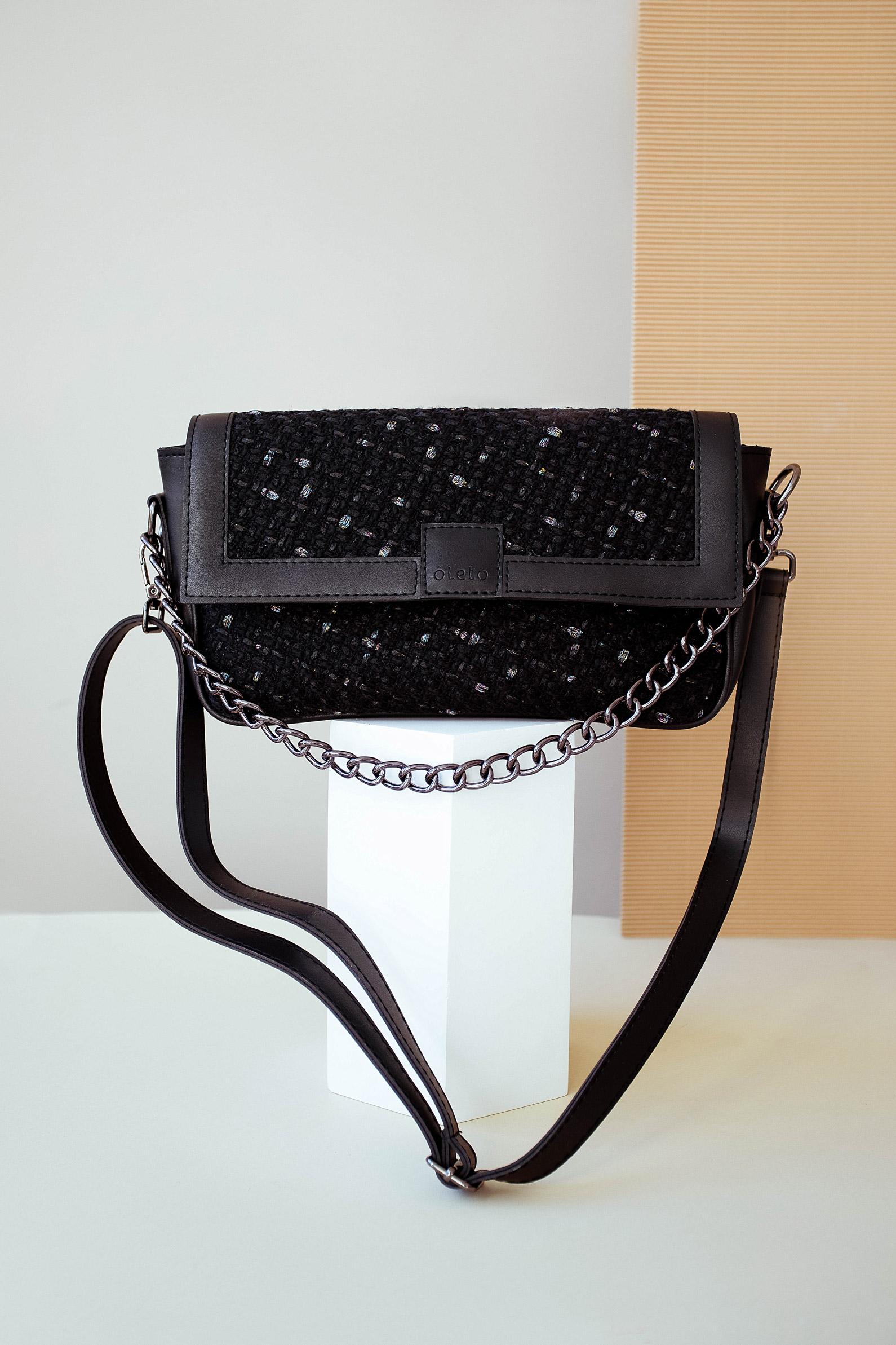 Женская сумка Naomi черный твид