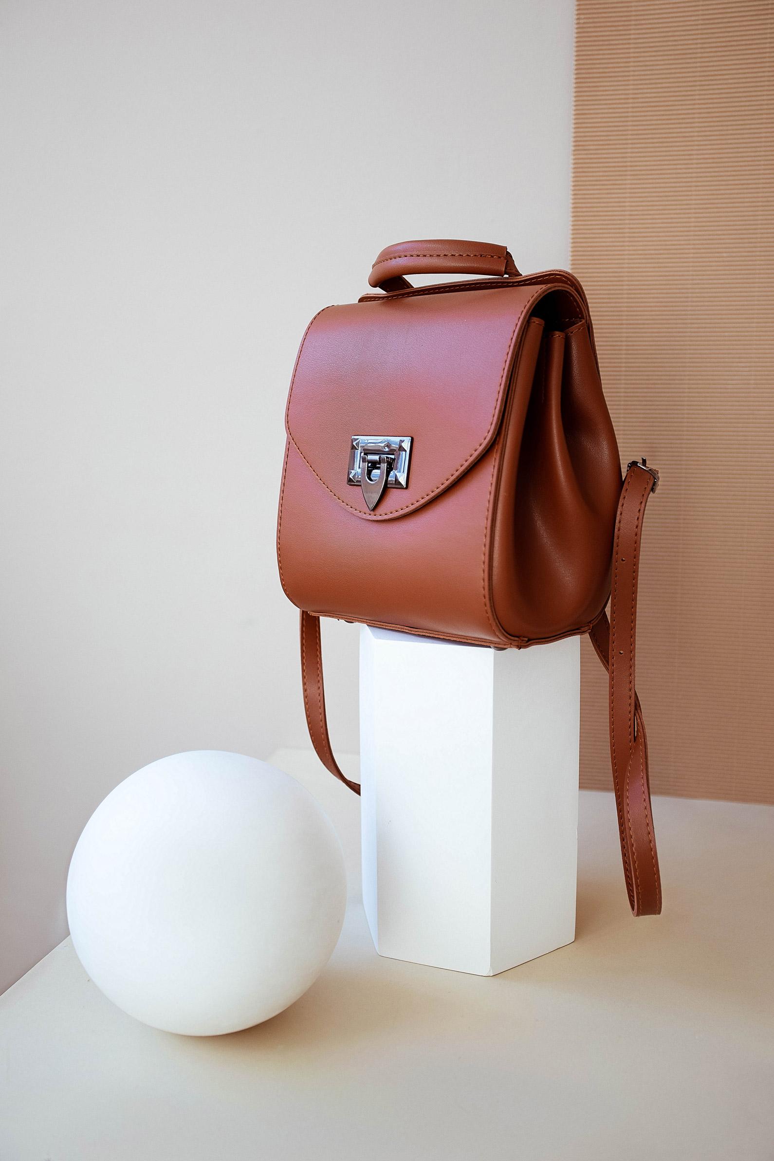 Сумка-рюкзак Chris рыжего цвета